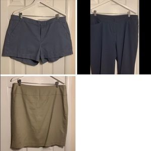 Other - Multiple Basics! Pants, shorts, & pencil skirt.